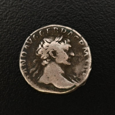Ancient Roman Imperial AR Denarius of Trajan, ca. 103 A.D.
