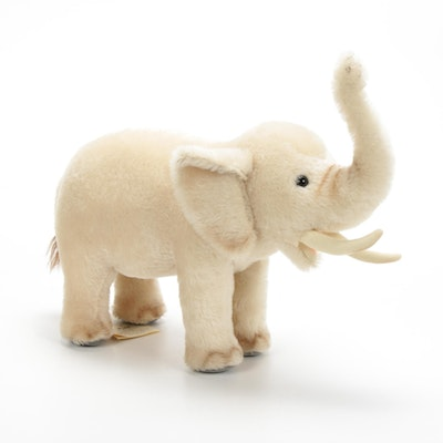 "Steiff Limited Edition ""African Elephant"" Mohair Stuffed Animal"