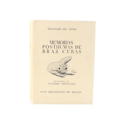 """1979 Facsimile Edition """"Memorias Posthumas De Braz Cubas"""" by Machado de Cubas"""