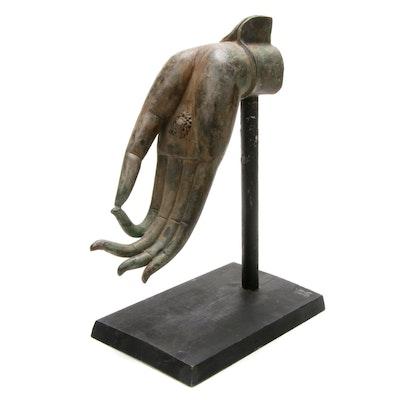 Bronze Vitarka Mudra Buddist Sacred Hand Gesture Sculpture