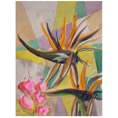 Kathleen Zimbicki Abstract Watercolor Painting