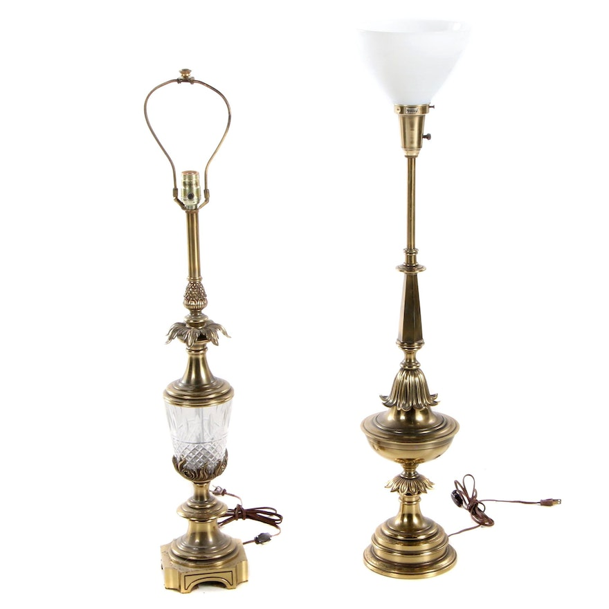 Two Stiffel Brass Table Lamps, Late 20th Century