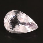 Loose 35.89 CT Pear Faceted Amethyst