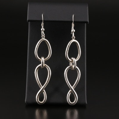 Sterling Silver Linked Dangle Earrings