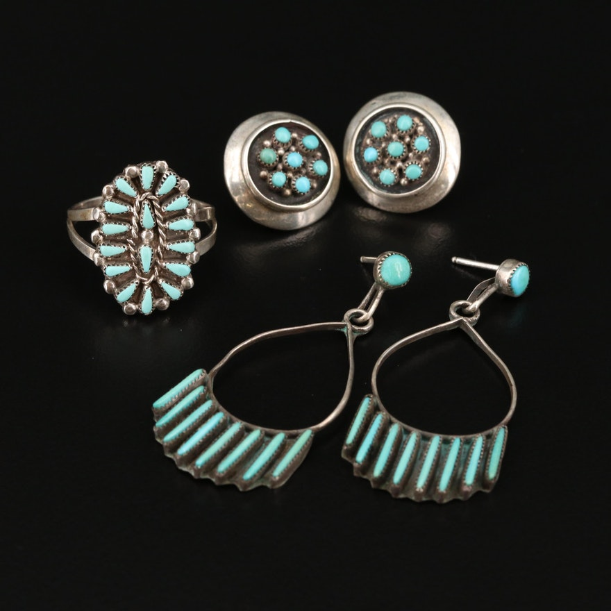 Western Sterling Silver Turquoise Jewelry
