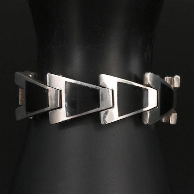 Mexican 950 Silver Arrow Motif Bracelet