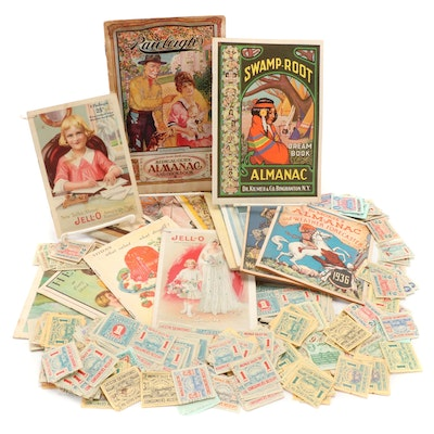 Almanacs, Recipes and Health Booklets with Ohio Tax Stamps