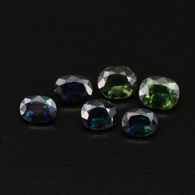 Loose 7.22 CT Oval Faceted Sapphires