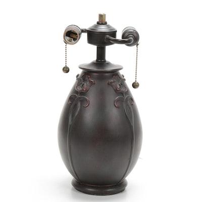 Quoizel French Art Nouveau Style Table Lamp