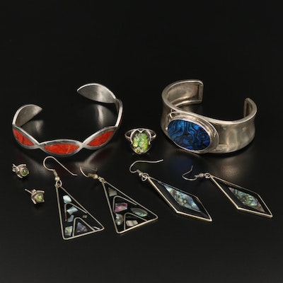 Assorted Jewelry Featuring Mark Jimenez Apache Comanche and Alpaca Pieces