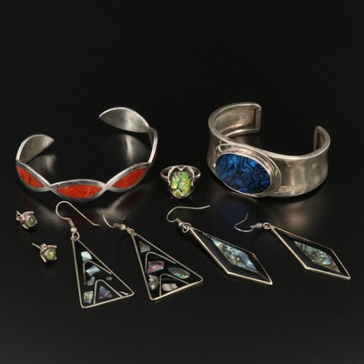 Assorted Jewelry Featuring Mark Jimenez Apache Comanche and Alpaca Pieces