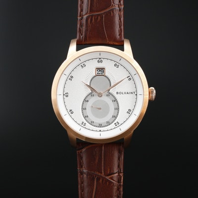 Bolvaint Mallory Blanc Rose Gold Tone Quartz Wristwatch