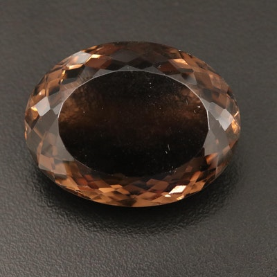 Loose 82.81 CT Smoky Quartz Oval Faceted
