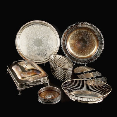 Gorham, Barker, and Other Silver Plate Table Accessories and Serveware