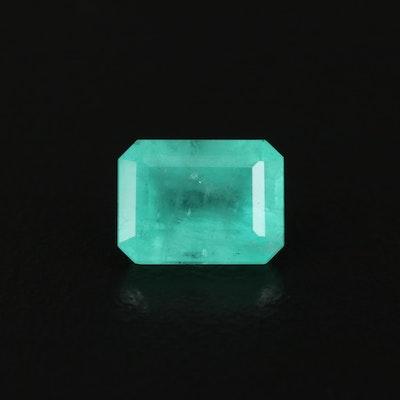Loose 1.86 CT Natural Cut Corner Rectangular Faceted Emerald