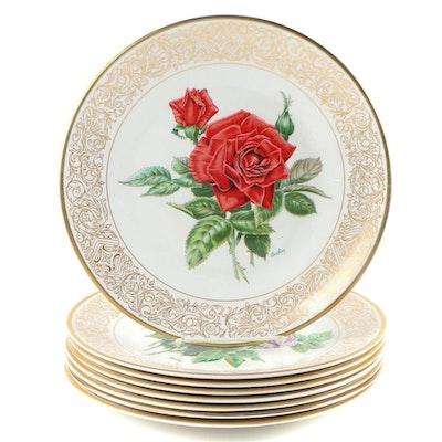 "Boehm ""Rose"" Porcelain Collector Plates"