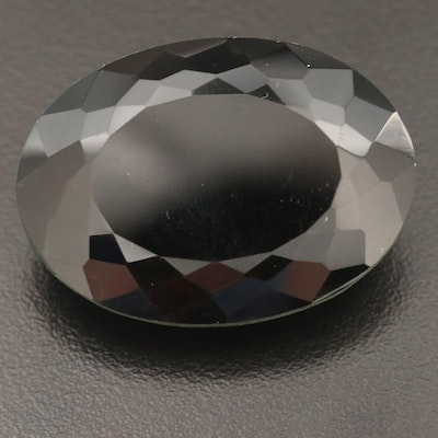 Loose 86.34 Ct Smoky Quartz Oval Faceted