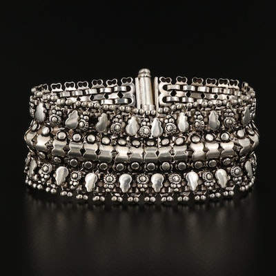 800 Silver Tribal Indian Bracelet