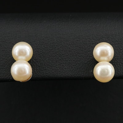 Cultured Pearl Earrings With 10K Posts