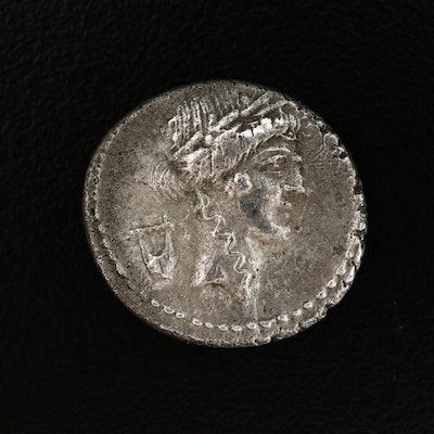 Ancient Roman Republic AR Denarius of P. Clodius, Moneyer, ca. 42 B.C.