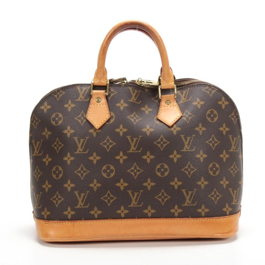 Louis Vuitton Alma PM Satchel in Monogram Canvas and Vachetta Leather
