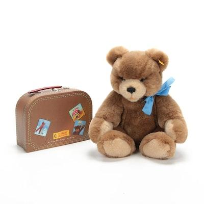 "Steiff ""Orsi Teddybear"" Stuffed Animal with Suitcase"
