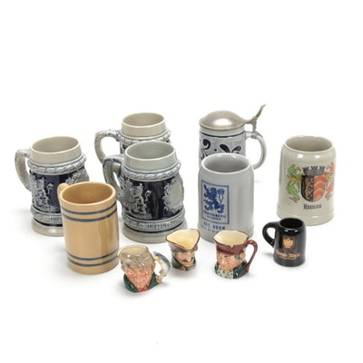Royal Doulton Toby Pitchers and West German Steins and More
