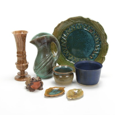 Enchanted Mid-Century Boho Style Artisan Pottery and More
