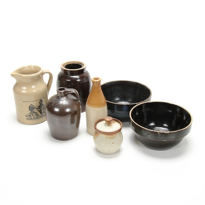 English and American Stoneware Pottery