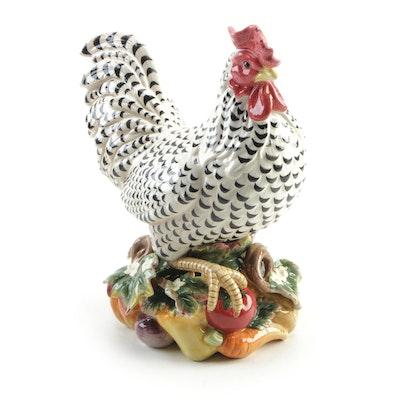 """Fitz & Floyd Classics """"Gardening Gourmet"""" Hen Ornament Centerpiece"""