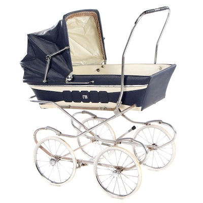 Vinyl and Chrome Baby Carriage