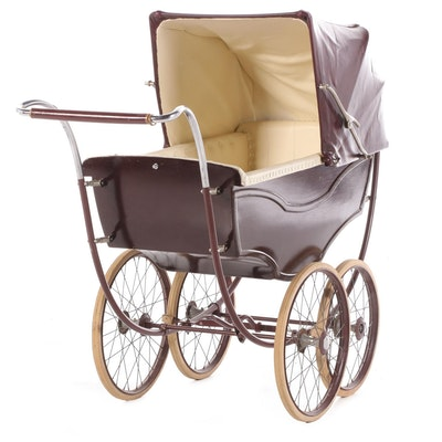 English Marmet Wooden Baby Carriage