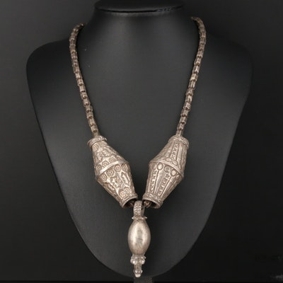 "Sterling Handmade Thai Style Chain with Omani ""Mariya"" Beads"