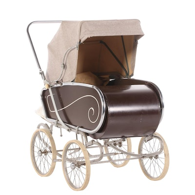 Art Deco Style Baby Carriage, Early to Mid-20th Century