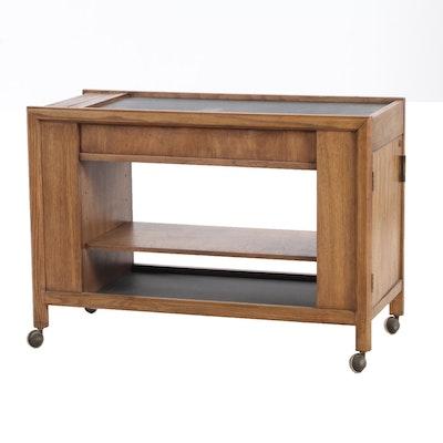 Stanley Furniture Pecan Bar Cart, Mid-20th Century