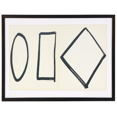 "Ellsworth Kelly Double-Page Lithograph for ""Derrière le Miroir"", 1964"