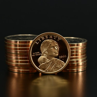 Roll of Twenty Proof 2005-S Sacagawea Dollars