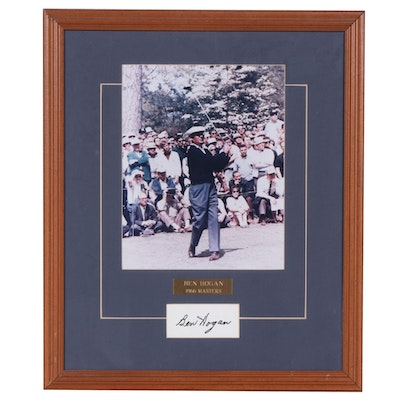 Ben Hogan Autographed Card with Promo Photograph