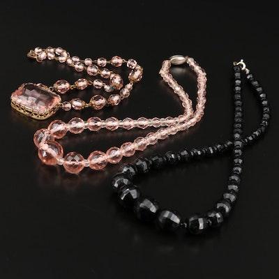 Art Deco Glass Necklaces
