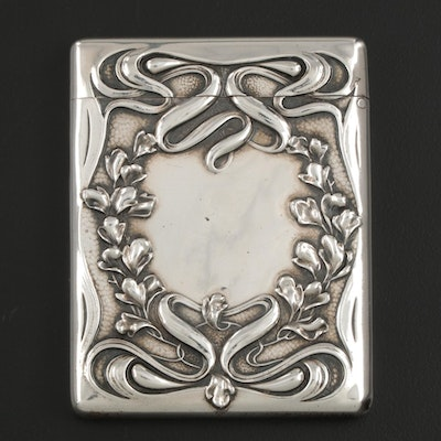 Wm. B. Kerr & Co. Sterling Silver Card Case, Late 19th/Early 20th Century