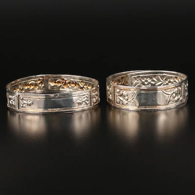 Floral and Embossed Bangles and Arm Cuffs