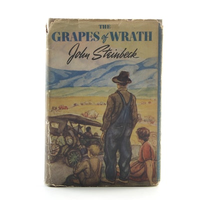 "1940 ""The Grapes of Wrath"" by John Steinbeck, Eleventh Printing with Dust Jacket"