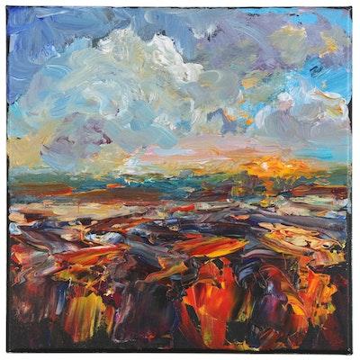 Elle Raines Landscape Acrylic Painting