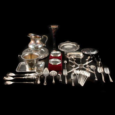 Godinger and Other Silver Plate Serveware and Table Accessories