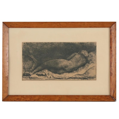 Figural Lithograph after Rembrandt van Rijn, Early 20th Century