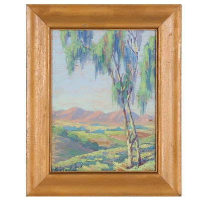 "Gertrude Larter Oil Painting ""San Fernando Valley, California"""