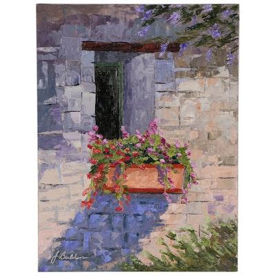 """James Baldoumas Oil Painting """"The Window Box"""", 2020"""
