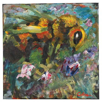Amelia Colne Acrylic Painting of Bee