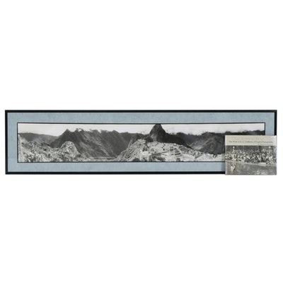 "Eugene Omar Goldbeck Panoramic Photograph ""Maccha Pichu, Peru"", 1972"