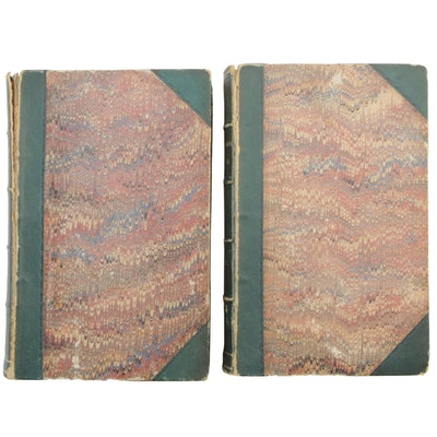 "1851 ""Blackwood's Edinburgh Magazine"", Two American Edition Volumes"